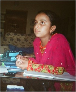 Child at desk, Pakistan